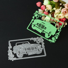 2017 New Metal Cutting Dies Stencil DIY Scrapbooking Card Embossing Paper Craft Boat car lovers Shape snijmal en embossing EY11