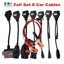 Adapter Cables For CDP Pro OBD 2 Cars Diagnostic Interface Tool Full set 8 Car Cables For Autocom CDP Delphi DS150E and snooper(China)