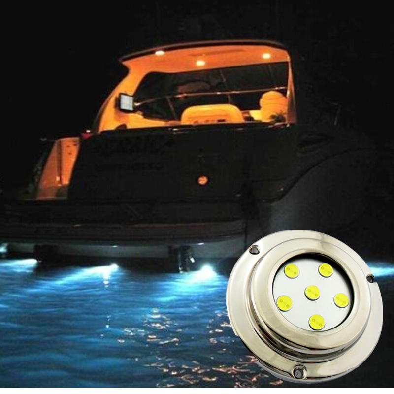 Factory cheap led marine light 12V 100% waterproof IP68 Stainless steel cover led surface mount marine light for boat white<br><br>Aliexpress