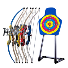 Plastic Swords 1 Set Children Bow And Arrow Toys Boy Parent-child Shooting Toys Outdoor Sports Fitness Equipment Sucker ingbaby(China)