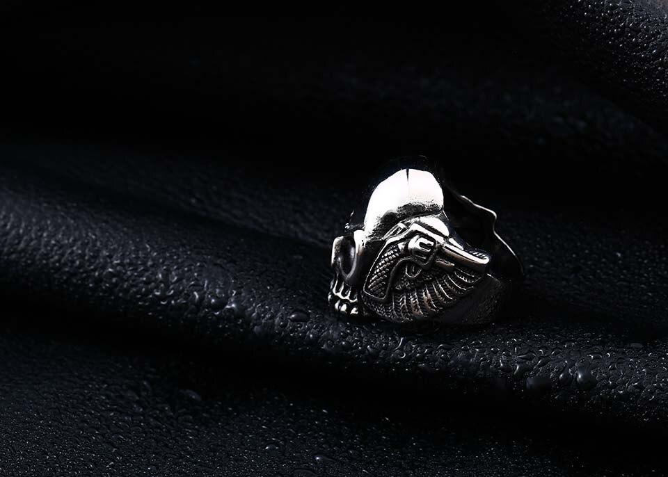 แหวนโคตรเท่ห์ Code 031 แหวนSkull wing สแตนเลส14