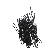 Fashion Hair Care & Styling Tools Hair Pins 50pcs Thin U Shape Hair Bobby Pin Black Metal Clips Beauty & Health(China)