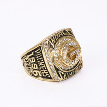 USA size 7 to 14! 1996 Green Bay Packers Super Bowl 31 world championship rings replica FAVRE solid ring drop shipping(China)