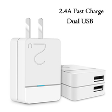 High-quality portable dual USB mobile phone Charger Adapter Double usb 2.4A fast charging For Mobile Phone Tablet PC Home Travel(China)