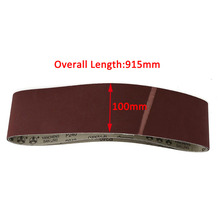 3pcs 240 Grit Sanding Belts Mayitr Metal Working Sander Belt 100x915mm with Heat Resistance For Polishing Tools(China)