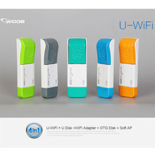 2017 Newest Colorful U disk USB Flash Drives 3 in 1 Multifunctional 150Mbps USB WiFi Adapter + 8G USB Disk + 8G OTG U Disk WiFi