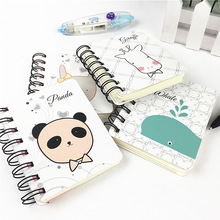 2017 Kawaii Cute Panda Pvc Daily Weekly Planner Spiral Notebook Day Plan Diary Notebook Time Organizer School Supplies Agenda