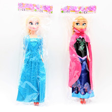 Frozen Princess Anna Elsa Dolls Kids Toys Snow Queen Children Girls Toys Birthday Christmas Gifts For Kids Cartoon Doll(China)