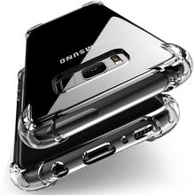 Buy Shockproof Clear Soft Silicone Armor Case Samsung Galaxy A8 Plus A5 A7 J2 Pro 2018 J3 J5 J7 2017 S6 S7 S8 S9 Plus back cover for $1.03 in AliExpress store