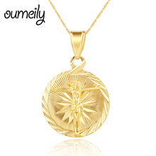 Buy OUMEILY Women Trendy Jesus Cross Pendant Necklace Gold Color Chain Men Jewelry Fashion Holiday Party Dress Accessories for $2.70 in AliExpress store