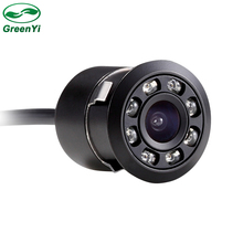 8 LED Night Vision 18mm Drill Hole Car Parking Reverse Rear View Backup Camera With Full HD CCD Camcorder 170-Degree Waterproof