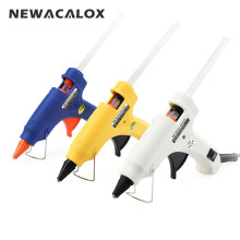 NEWACALOX 20W EU Plug Hot Melt Glue Gun with Free 1pc 7mm Glue Stick Industrial Mini Guns Thermo Electric Heat Temperature Tool(China)