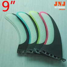 "Colorful carbon fiber 9"" sup fins Honeycomb Fiberglass FCS sup stand up paddle board centre fins SUP TABLE fins(China)"
