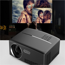 1800 Lumens Home Projector with Free HDMI GP80 LED Video Projector Support 1080P for Home Cinema Theater TV Laptop Movie Games