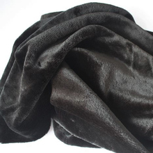 Soft  Black Faux Fur Fabric   Costumes  Cosplay  Crafts  Blankets Size 150*92cm  Free Shipping