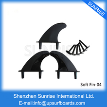 FCS Fin Surf Board Fins Black Surfing Soft SOFT PLASTIC SILICON Fins quillas prancha quilhas de Nylon,Plastic Fins(China)
