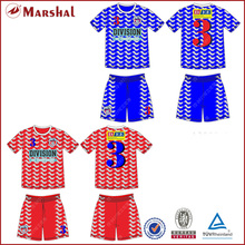 Colorful Design soccer shirt,Custom team soccer jersey Club Designs soccer kits(China)