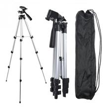 Professional Camera Camcorder Tripod Monopod Digital Camera Stand Holder + Phone Holder + Nylon Carry Bag For iPhone Samsung
