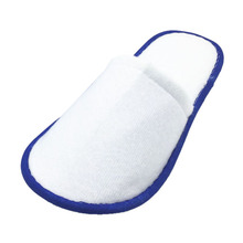 SCYL 10 pairs of White Towelling Hotel Disposable Slippers Terry Spa Guest Shoes Blue