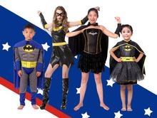 Hot 2017 Halloween cosplay  birthday party super hero costume For Abult kids Parent child clothing girls clothes Superman Dress
