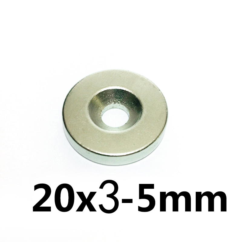10PCS N50 Round Ring Magnets 20mm x 4mm Hole 5mm Rare Earth Neodymium