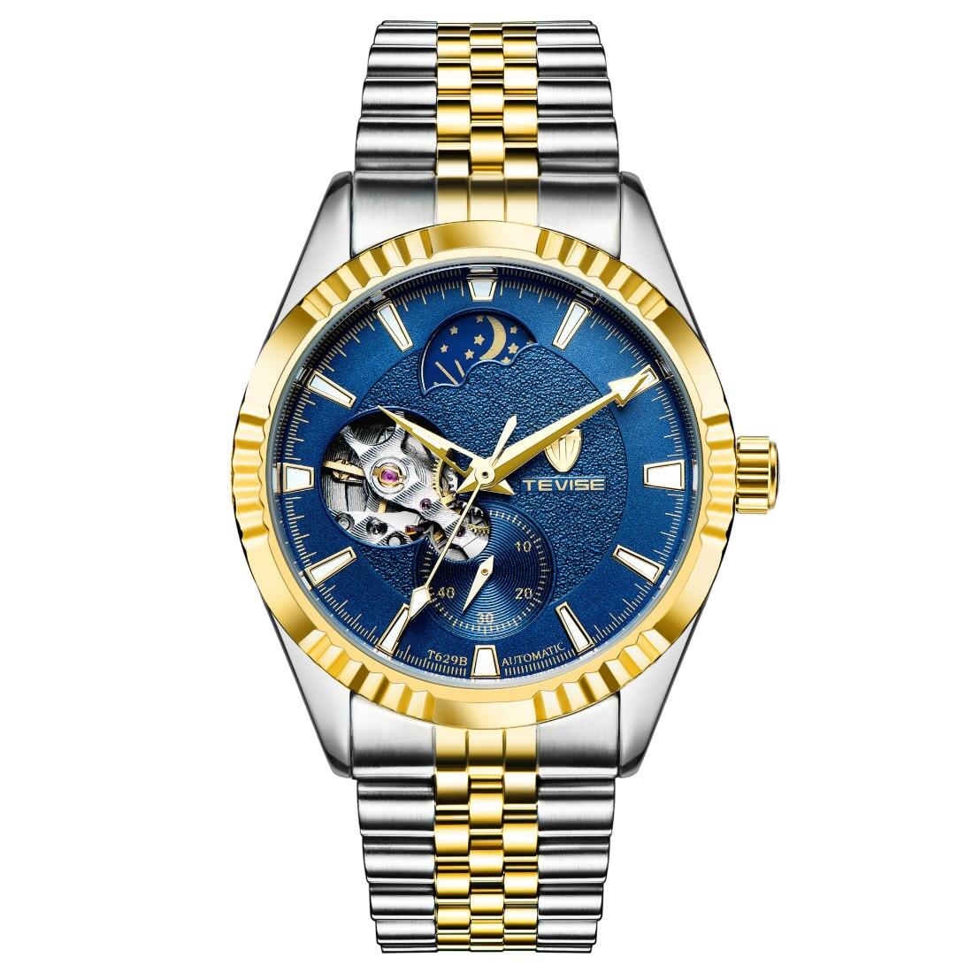 Frosted watch blue large men watch 2018 top brand luxury quartz wristwatch moon blue dial waterproof 30M relogio masculino steel<br>