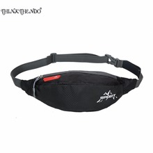 THINKTHEND Unisex New Fashion Women Men Portable Travelling Nylon Waist Belt Pack Bag Pouch 6 Colors