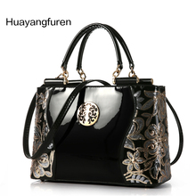 2017 patent leather women handbag brand shoulder bag luxury fashion tote Clutch Sequins design patent diamond messenger bag Q30Y