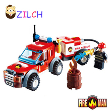 Child DIY Building Blocks Compatible with Fire Station Truck Fire rescue vehicles Learning School Education Toys Gift Children