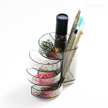 1 Pcs Plastic Creative Office Desk Storage Organizer With Drawers Accessories Gift Containers Cup Organizer Stationery(China)