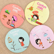Cute Cartoon Pocket Makeup Mirror New Arrived Cosmetic Compact Mirrors Fashion Women&Girl Mini Small Mirror