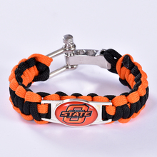 Oklahoma State Cowboys Custom Paracord Bracelet NCAA College Football Bracelet Survival Bracelet,Drop Shipping! 6Pcs/lot!(China)