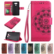 Fashion Stand Cases For LG K8 k10 K350N k430 G6 K4 k8 k10 2017 X400 M250N Luxury flower Wallet phone Cover Shell With Card Slot(China)