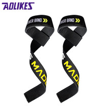 1 Pair aolikes Adjustable Fitness Wristband Powerlifting Wrist Support Pull Up Sports Non-slip Crossfit Wrist Wraps munhequeira(China)