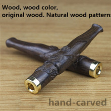 Ebony Grade Wood Pipes Smoking Pipe Hand-carved Herb Tobacco Pipe Gifts Weed Grinder Smoke Natural Mouthpiece