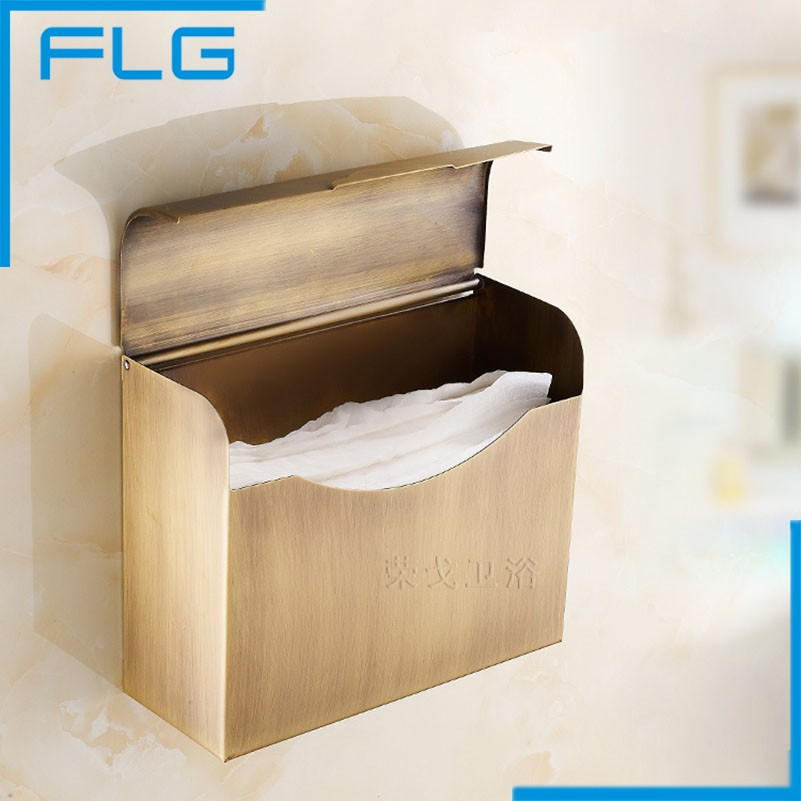 FLG Bagno Accessaries Stainless Steel Antique Paper Holders Box, Paper Holder porte papier toilette<br>