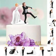 Elegant Synthetic Resin Bride&Groom Cake Topper Wedding Decoration Figurine Casamento Mariage