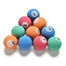 10 Pcs/lot Candy Colors 32mm Bounce Balls Child Kid Billiards Ball Toy Outdoor Fun Sport