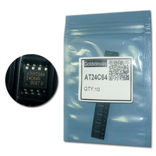Free shipping 10pcs/lot 24C64 AT24C64 AT24C64N-10PU-2.7 SOP-8 2-Wire Serial EEPROM 64K BIT