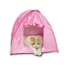 Foldable Dogs Cats Tent pet cat House dog cat bed All Seasons Dirt-resistant Outdoor Camping Home Travel House Pet Tent(China)