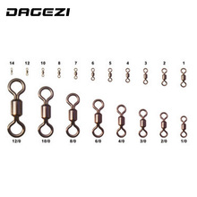 DAGEZI 100pcs/lot American Swivel Ring 8 fishing gear professional fishing tackle accessories Connector copper swivel