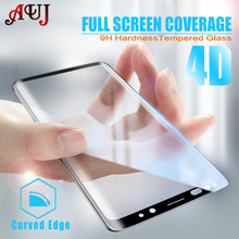 Buy AUJ 4D Full Cover Tempered Glass Samsung Galaxy S9 S8 Plus Note 8 Curved edges Screen Protector Film Samsung S6 S7 edge for $1.89 in AliExpress store