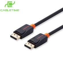 Cabletime Premium Displayport 1.2 Cable Male dp to dp Display port Cable Gold 1080p 3D for HDTV Projector Macbook Audio N011