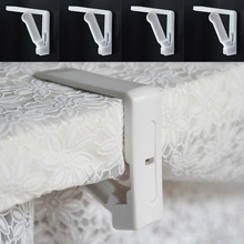 New Creative Plastic 4Pcs Table Cover Cloth Stainless Steel Tablecloth Clip Clamp Holder For Wedding Prom