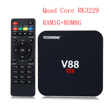 RK3229 Quad Core RAM1GB ROM8GB WIFI Media Player Smart Set Top BOX V88 Android TV Box(China)