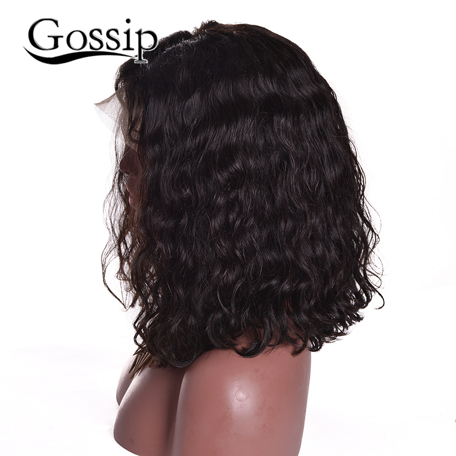 altGlueless Full Lace Natural Wigs For Black Women Peruvian Wet And Wavy Lace Front Human Hair Wigs Short Kinky Afro Wigs Curly Wig