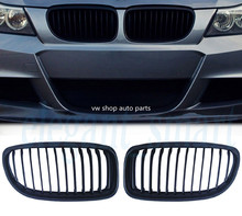 Matte Black Kidney Front Grill Grilles For BMW E90 E91 M3 3 Series 4Door 2009-11