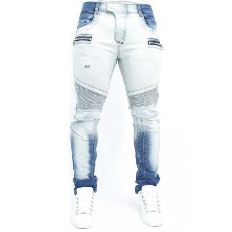 selling Famous Brand Paris Catwalk Shows Stretch Gray Men Jeans Washed Retro Slim Biker Jeans Balmai Jeans Men Skinny Jeans MensОдежда и ак�е��уары<br><br><br>Aliexpress