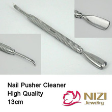 Nail Pusher Spoon 13mm 1 pc Stainless Steel Cuticle Pusher Manicure Pedicure Care Cleaner Tools Cuticle Remover