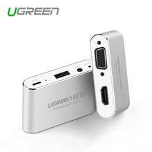 Ugreen 3 in 1 USB to HDMI VGA +Audio Video Converter Digital AV Adapter For iPhone 6S Plus Ipad Samsung iOS Android(China)